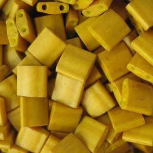 Tila Bead, 5mm, Mustard