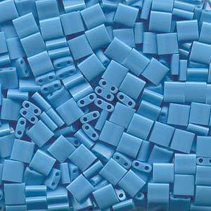 Tila Bead, 5mm, Opaque Turquoise Blue
