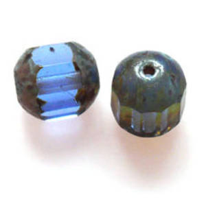 Cathedral Bead, 8mm x 12mm - Sapphire