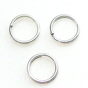 6mm Split Ring: Bright silver