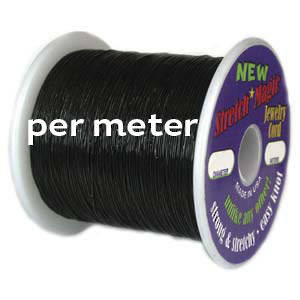 1mm Black Stretch Cord- per meter