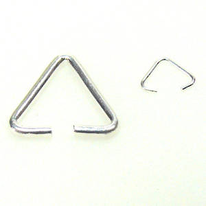 Triangle Bail, antique silver