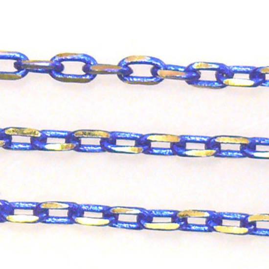 Coloured Chain Royal Blue 3mm Bright Coloured Chains