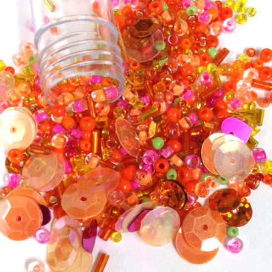 NEW! Chinese Seed Bead/Sequin Mix: HOTS
