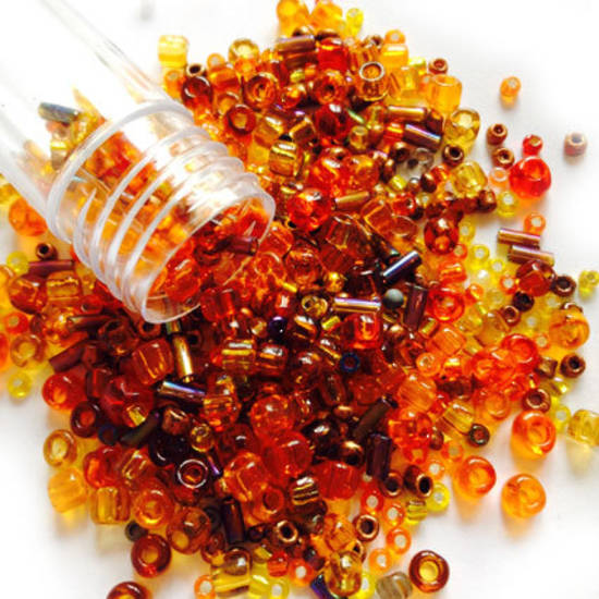NEW! Czech/Chinese Seed Bead Mix: AMBERLEA