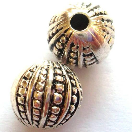 Metalised Plastic Ball With Dot Segments Acrylic Beads