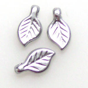 Acrylic Leaf, 5mm x 9mm - Silver grey