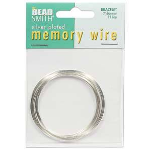 Memory Wire, Medium Bracelet - bright silver