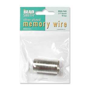 Memory Wire Pack, Ring Size - bright silver