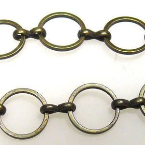 Large Round Chain, figure 8 links, Brass