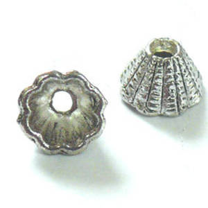Silver Cone, short with fluted line detail