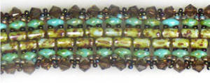 KITSET: Pathways Bracelet - turquoise and brown