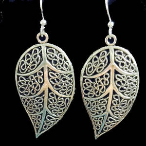 EARRINGS: Filigree Leaf