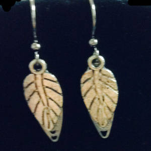 EARRINGS: Double Leaf