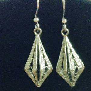 EARRINGS: Filigree Pointed Drop