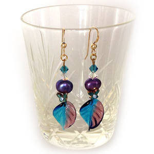 Europa Earrings: Indicolite, Purple and Green