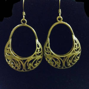 EARRINGS: Brass Baskets