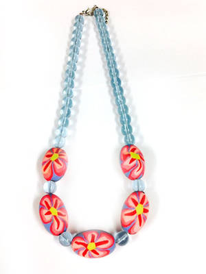 Fimo Necklace: Soft Summer