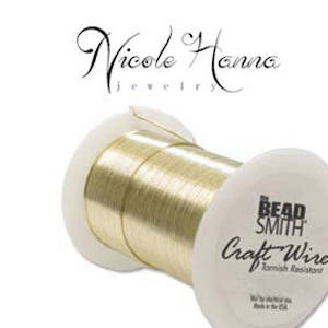Wire Pack for Nicole Hanna Project: Craft Wire Gold