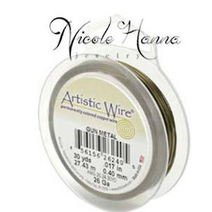 Wire Pack for Nicole Hanna Project: Artistic Wire Gunmetal (Antique Brass colour)