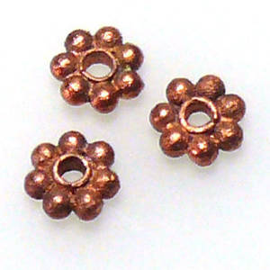 Metal spacer - 5mm daisy - copper