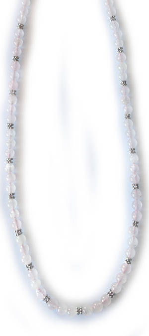 KITSET: Simple Semi Precious Necklace - Rose Quartz