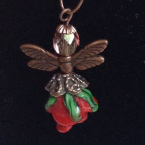 KITSET: Christmas Angel - Red bud with copper