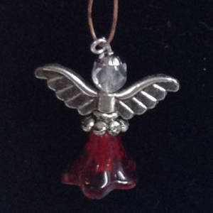 KITSET: Christmas Angel - Red trumpet with striped wings