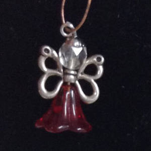KITSET: Christmas Angel - Red trumpet with butterfly wings