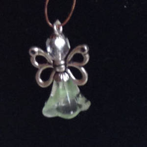 KITSET: Christmas Angel - Green trumpet with butterfly wings