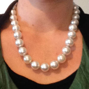 KITSET: 'Flintstone' necklace, white