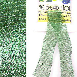 Italian Metallic Mesh Ribbon, Chrysolite