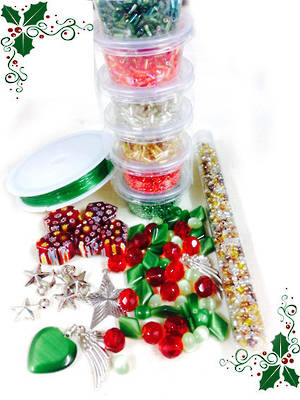 Queen Bead MIX! Christmas Time