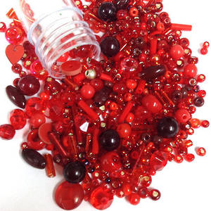 NEW! Chinese Seed Bead/Sequin Mix: PAINT THE TOWN RED