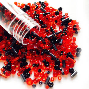NEW! Czech/Chinese Seed Bead Mix: LAVA FLOW