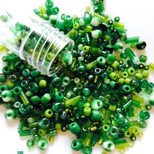 NEW! Czech/Chinese Seed Bead Mix: GRASS
