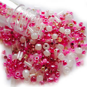 NEW! Czech/Chinese Seed Bead Mix: PRETTY IN PINK