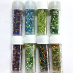 NEW! Chinese Seed Bead Lucky Dip Mix - 8 mixed tubes