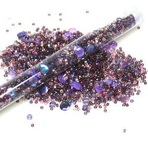 Chinese Seed Bead Mix - darker purples