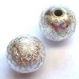 Metalised plastic, glitter ball 8mm