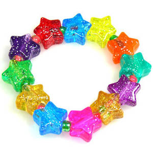 Kids Party Pack - sparkly acrylic STARS.  8 - 10 children