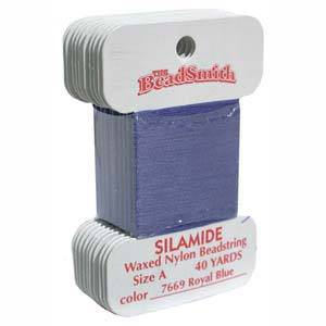 Silamide,  40 yard card - Royal Blue