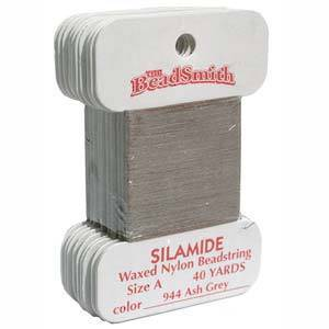 Silamide,  40 yard card - Ash Grey