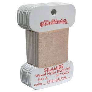 Silamide, 40 yard card -  Light Pink