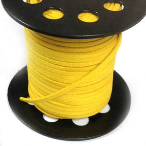 Faux Suede Cord, Canary Yellow