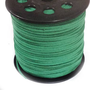 Faux Suede Cord, Kelly Green