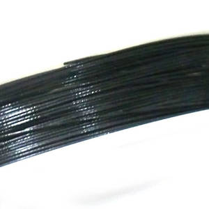 NEW! Acculon (tigertail wire), Black, 10m spool - fine