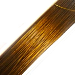 Tigertail Beading Wire, Golden Brown
