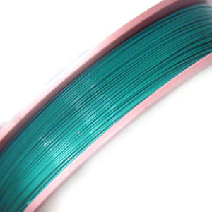 Tigertail Beading Wire, Emerald, light (A grade)