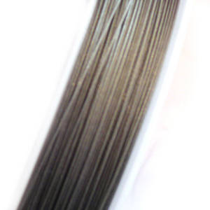 Tigertail Beading Wire, Silver Grey
